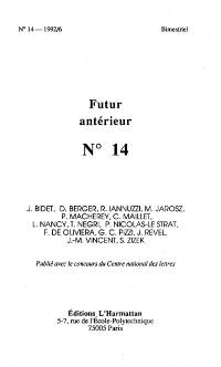 Cover Futur Anterieur 14