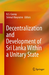 Cover Decentralization and Development of Sri Lanka Within a Unitary State