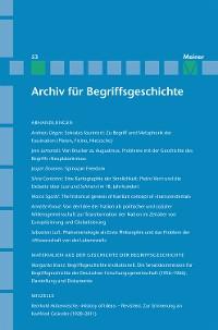 Cover Archiv für Begriffsgeschichte / Archiv für Begriffsgeschichte. Band 53
