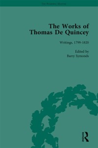 Cover Works of Thomas De Quincey, Part I Vol 1