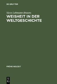Cover Weisheit in der Weltgeschichte