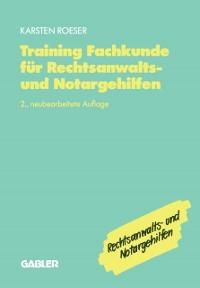 Cover Training Fachkunde fur Rechtsanwalts- und Notargehilfen
