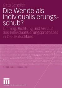 Cover Die Wende als Individualisierungsschub?