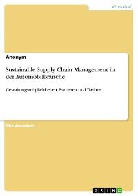 Cover Sustainable Supply Chain Management in der Automobilbranche