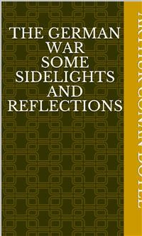 Cover The German War Some Sidelights and Reflections