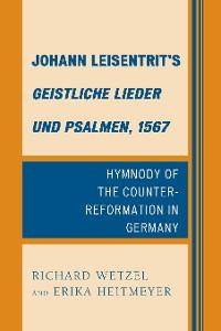 Cover Johann Leisentrit's Geistliche Lieder und Psalmen, 1567