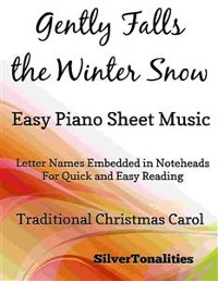 Cover Gently Falls the Winter Snow Easy Piano Sheet Music