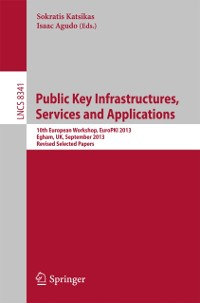 Cover Public Key Infrastructures, Services and Applications