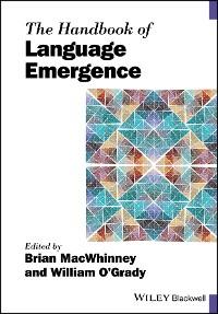 Cover The Handbook of Language Emergence