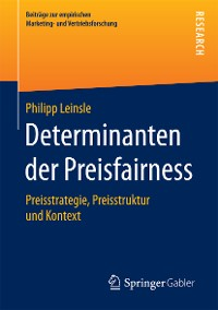 Cover Determinanten der Preisfairness