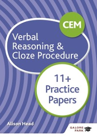 Cover CEM 11+ Verbal Reasoning & Cloze Procedure Practice Papers