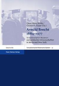 Cover Arnold Brecht 1884–1977