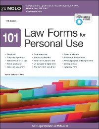 Cover 101 Law Forms for Personal Use