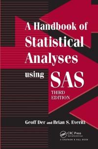 Cover Handbook of Statistical Analyses using SAS