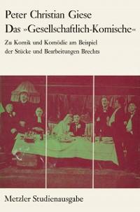 Cover Das &quote;Gesellschaftlich-Komische&quote;