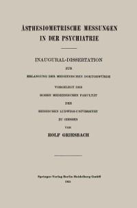 Cover Asthesiometrische Messungen in der Psychiatrie