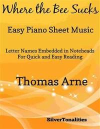 Cover Where the Bee Sucks Easy Piano Sheet Music