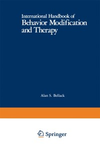 Cover International Handbook of Behavior Modification and Therapy