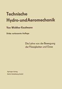 Cover Technische Hydro- und Aeromechanik