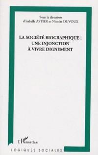 Cover Societe biographique une injonction a vi