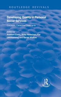 Cover Developing Quality in Personal Social Services