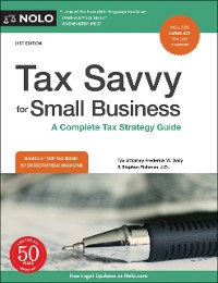 Cover Tax Savvy for Small Business