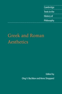 Cover Greek and Roman Aesthetics