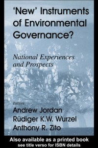 Cover New Instruments of Environmental Governance?