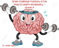 Cover Brain Challenge Puzzles: A Fun Way to Learn Vocabulary – Grade 2