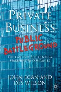 Cover Private Business-Public Battleground