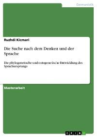 Cover Die Suche nach dem Denken und der Sprache