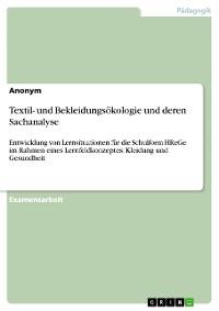Cover Textil- und Bekleidungsökologie und deren Sachanalyse