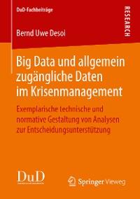 Cover Big Data und allgemein zugängliche Daten im Krisenmanagement