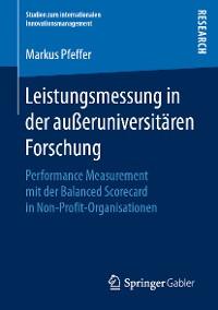 Cover Leistungsmessung in der außeruniversitären Forschung