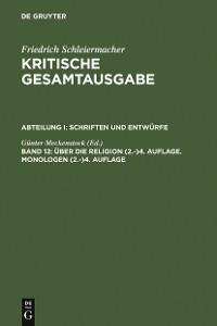 Cover Über die Religion (2.-)4. Auflage. Monologen (2.-)4. Auflage