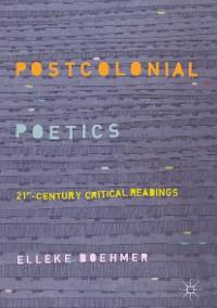 Cover Postcolonial Poetics