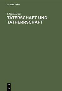 Cover Täterschaft und Tatherrschaft