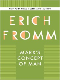 Cover Marx's Concept of Man