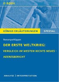 Cover Der Erste Weltkrieg: Vergleich Im Westen nichts Neues - Heeresbericht.