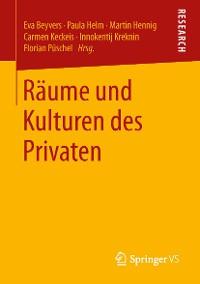 Cover Räume und Kulturen des Privaten