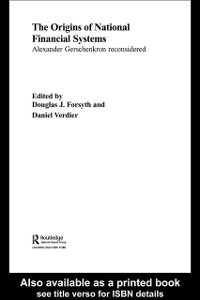 Cover Origins of National Financial Systems
