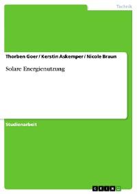 Cover Solare Energienutzung