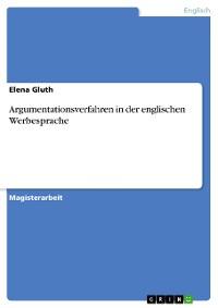 Cover Argumentationsverfahren in der englischen Werbesprache