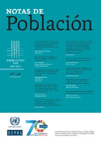 Cover Notas de Población Año XLVI No.108 Enero-Junio de 2019