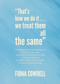 Cover &quote;That's how we do it...we treat them all the same&quote;