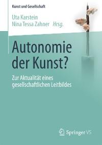 Cover Autonomie der Kunst?