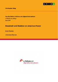 Cover Brzezinski and Maddow on American Power