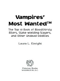 Cover Vampires' Most Wanted