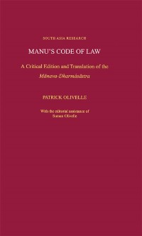Cover Manu's Code of Law