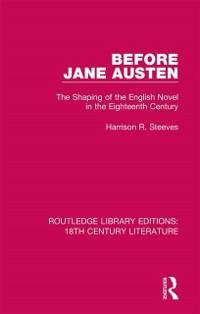 Cover Before Jane Austen